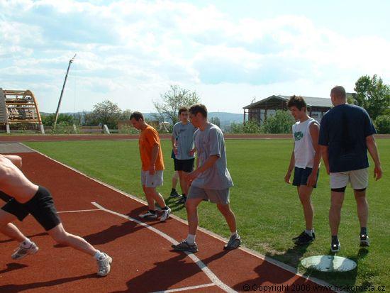 pøíprava na krátký sprint